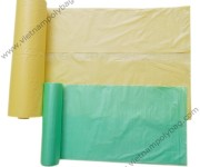 Plain color flat bags on roll