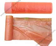 Plain color drawtape bags on roll