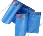 Tape tie handle bags for trash