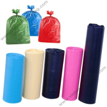 Plain color garbage bags on roll