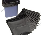 Recycle black trash bags