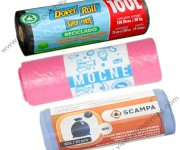 Garbage bags with label cover