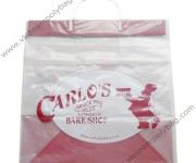 Rigid handle bags for food shop