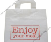 Food take away soft loop bag