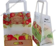 Colorful printing tape handle bags