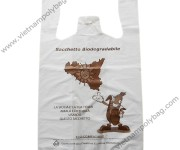 Cornstarch in biodegredable T-shirt bags