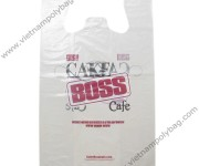 Transparent LDPE T-shirt bags with printed