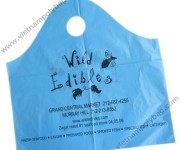 Blue wave top bags printed 1 color